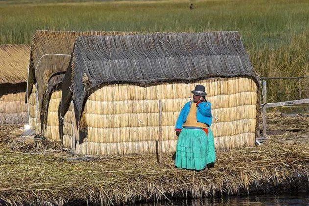 Le case galleggianti degli Uros, sul lago Titicaca, Perù