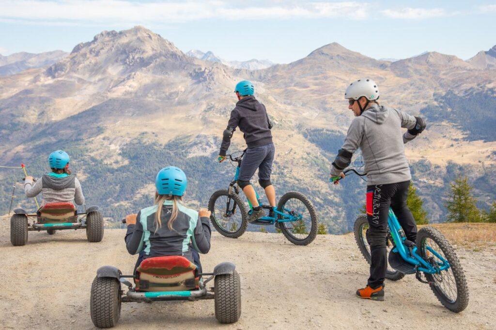 sport serre chevalier bike mountain bike piste