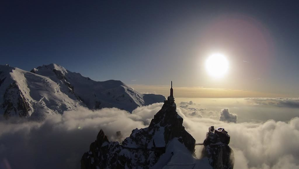The perfect flight Aiguille du Midi – Mont Blanc – Chamonix - Francia Photo © John Layden (Francia)