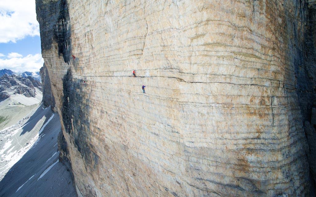 Il fascino dell'arrampicata su roccia Cima occidentale – Dolomiti – Italia Photo © Jona Salcher (Italia)