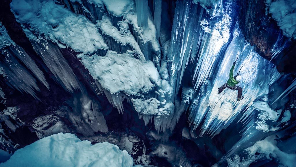 Black Light Ice Climbing Sigmund-Thun-Klamm, Kaprun, Austria Photo © Markus Berger (Austria)