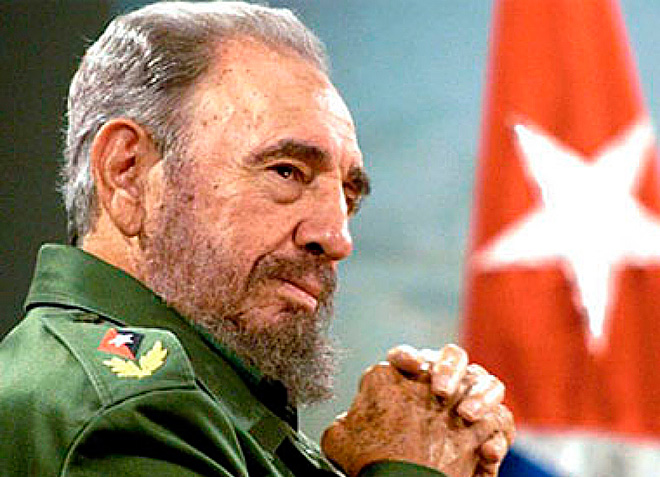 Fidel Castro nella classica divisa militare