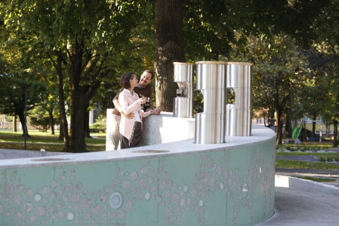fontana di birra Slovenia