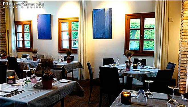 una sala del ristorante il Magione