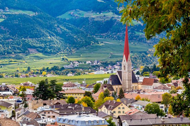 il paese di Silandro in Val Venosta