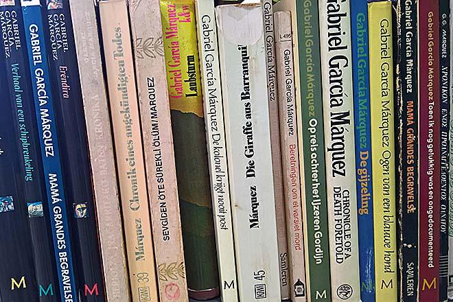 Alcune opere dello scrittore colombiano ©Anna Maspero