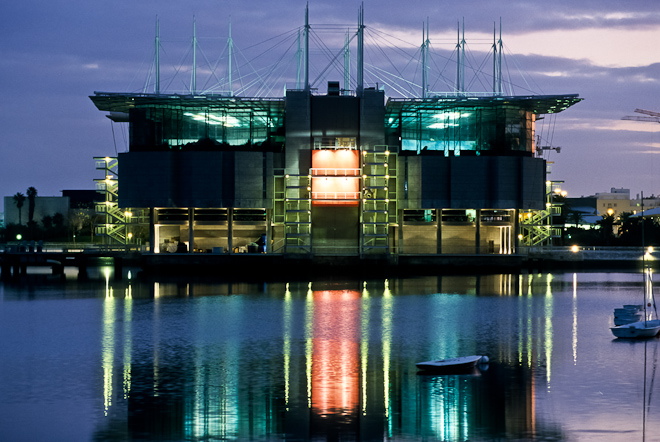 The Oceanarium, the largest in Europe, Parque das Nacoes (Park of Nations), Lisbon, Portugal, Europe