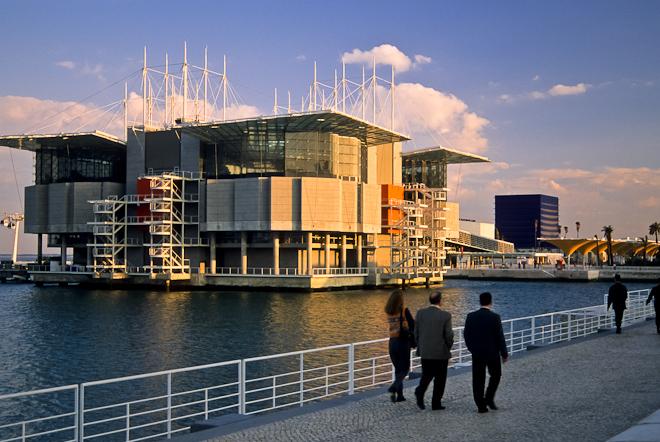 L'Oceanario di Lisbona, una veduta dall'esterno