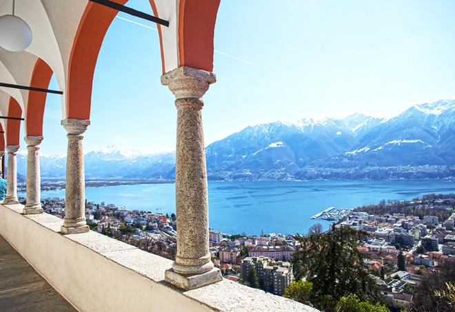 panorama da Hotel Belvedere Locarno