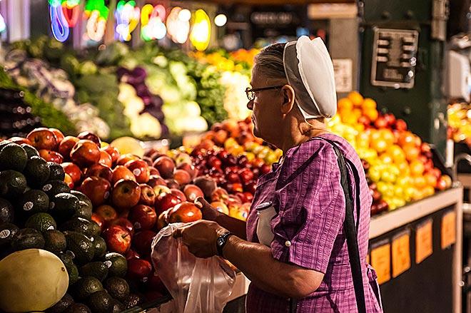 Gli Amish frequesntano il Readin Terminal Market