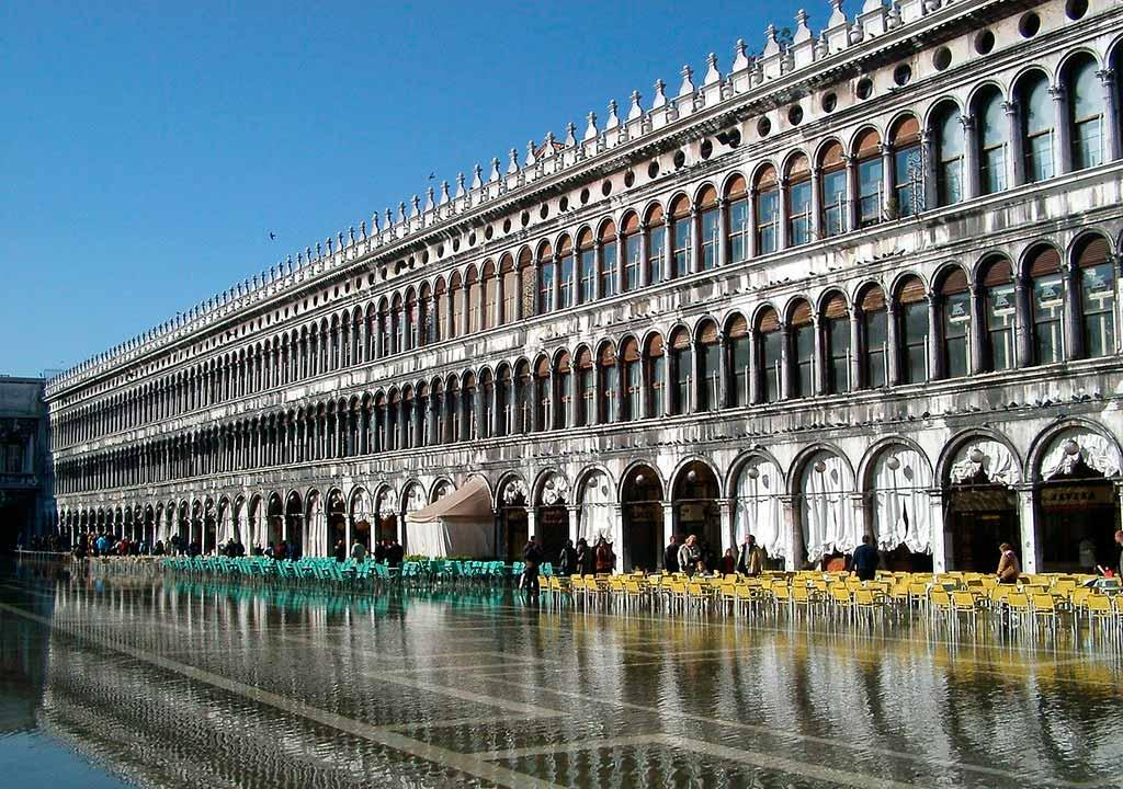 Acqua alta in Piazza san Marco