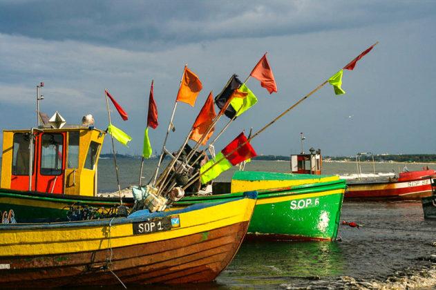 Sopot, barche da pesca sul Baltico